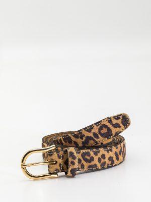 Cinturón Libertia estampado leopardo