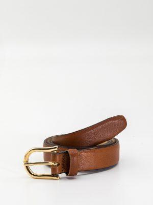 Cinturón Sandberg marrón piel