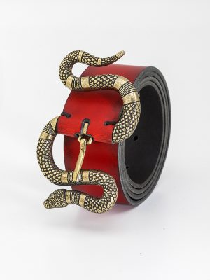Cinturón con hebilla de Serpiente Dorada