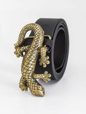 Cinturon hebilla salamandra dorada