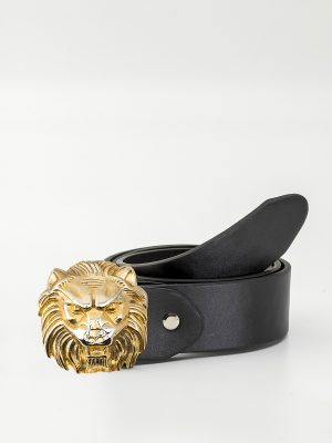 Cinturón con hebilla de León Dorado