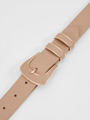 cinturón crema hebilla forrada 2