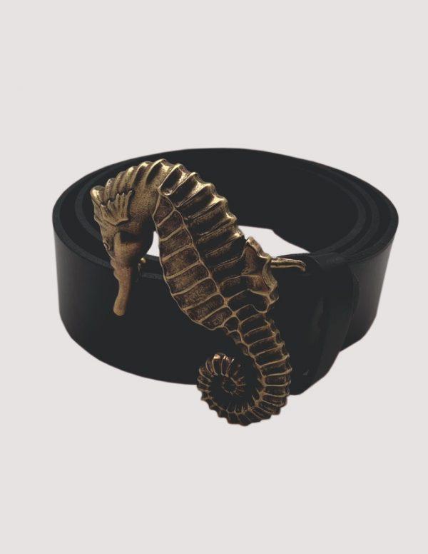 Cinturón caballito de mar dorado